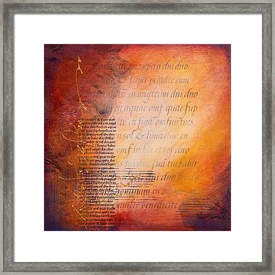 Italic Rock Framed Print by Jane Dill