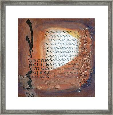 Italic With Texture Framed Print by Jan  Kruger