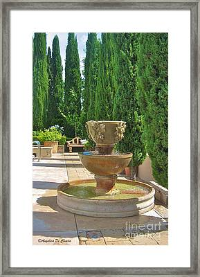Italy In Usa- Wine Country Home Framed Print by Italian Art