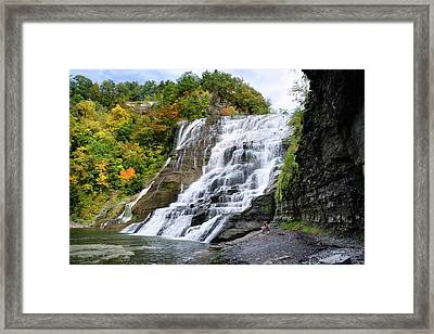 Ithaca Falls Framed Print by Christina Rollo