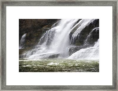 Ithaca Falls On Fall Creek - Mountain Showers Framed Print by Christina Rollo