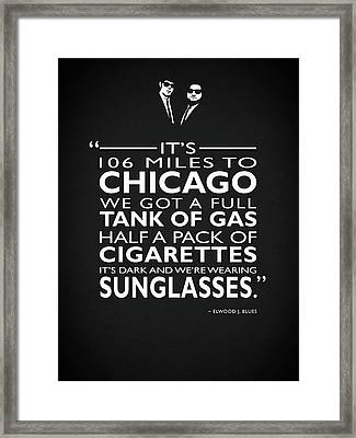 Its 106 Miles To Chicago Framed Print by Mark Rogan