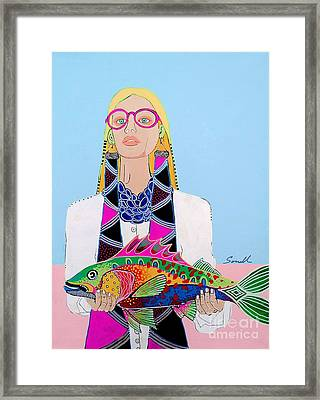 It's A Fish Framed Print by Amy Sorrell