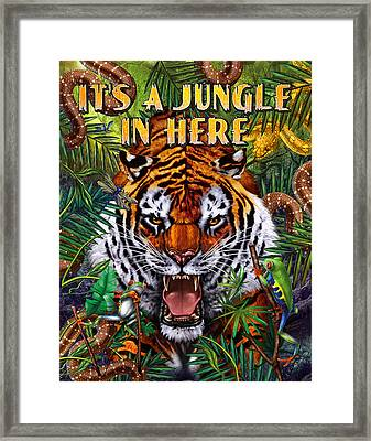 It's A Jungle  Framed Print by JQ Licensing