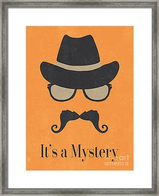 It's A Mystery - Fun Illustrated Poster - Natalie Kinnear Photog Framed Print by Natalie Kinnear