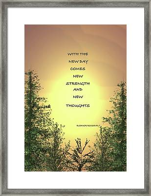 It's A New Day Framed Print by Chellie Bock