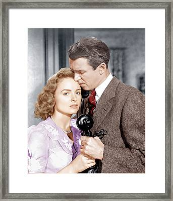 Its A Wonderful Life, From Left Donna Framed Print by Everett