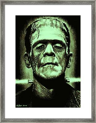 It's Alive Jolly Green Giant Edit Framed Print by Andrew Read