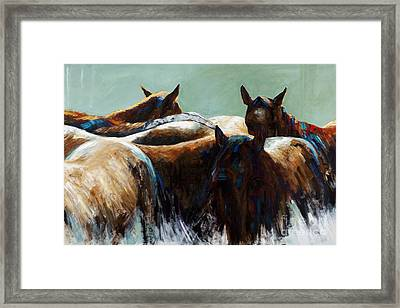 Its All About The Brush Stroke Framed Print by Frances Marino