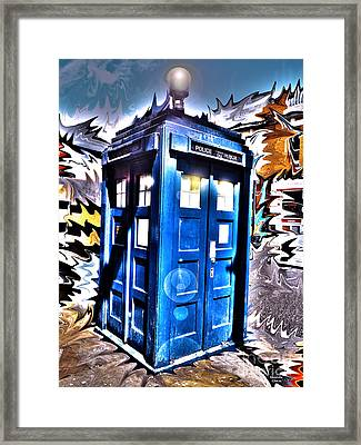 It's Bigger On The Inside Framed Print by Rhonda Chase