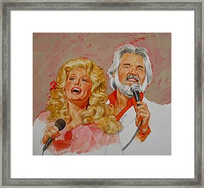 Its Country - 8  Dolly Parton Kenny Rogers Framed Print by Cliff Spohn