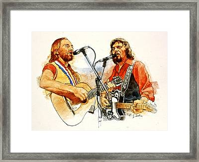 Its Country - 7  Waylon Jennings Willie Nelson Framed Print by Cliff Spohn