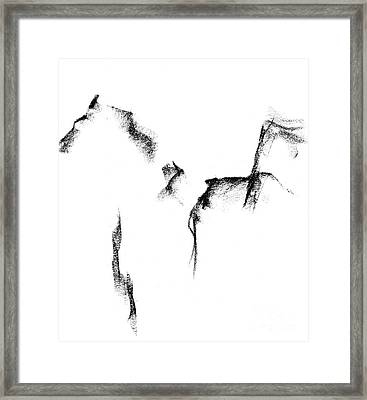 Its Just A Little Sketch Framed Print by Frances Marino