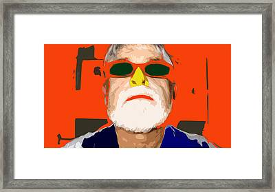 It's Just A Nose Framed Print by Charlie Spear
