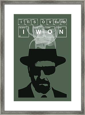 It's Over I Won - Breaking Bad Poster Walter White Quote Framed Print by Beautify My Walls