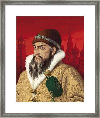 Ivan The Terrible Framed Print by English School