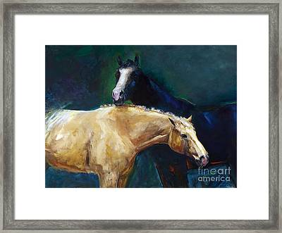 I've Got Your Back Framed Print by Frances Marino