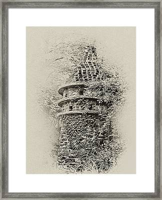 Ivy Covered Castle In The Woods Framed Print by Bill Cannon