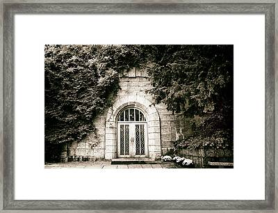 Ivy Covered Cottage Framed Print by Jessica Jenney