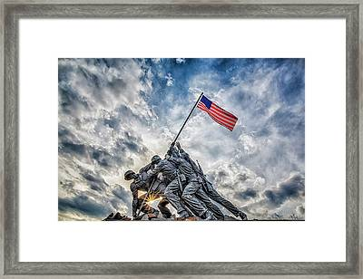 Iwo Jima Memorial Framed Print by Susan Candelario