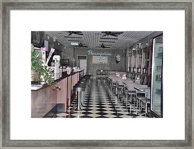 Izzo's Drugstore Framed Print by Jan Amiss Photography