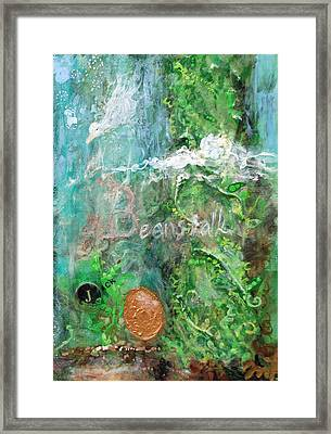 Jack And The Beanstalk Framed Print by Jennifer Kelly