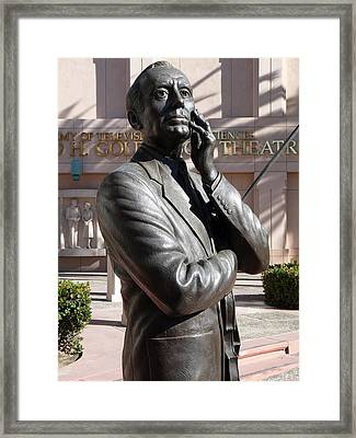 Jack Benny Framed Print by Jeff Lowe