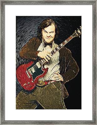 Jack Black Framed Print by Taylan Soyturk