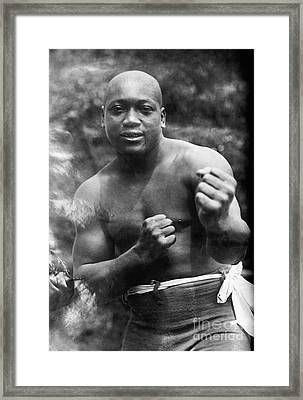 Jack Johnson (1878-1946) Framed Print by Granger