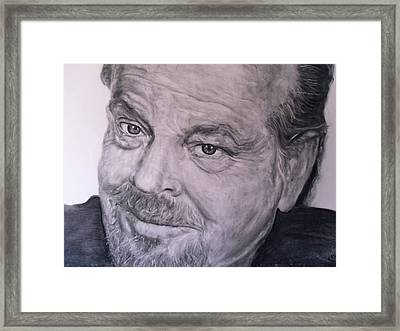 Jack Nicholson Framed Print by Adrienne Martino