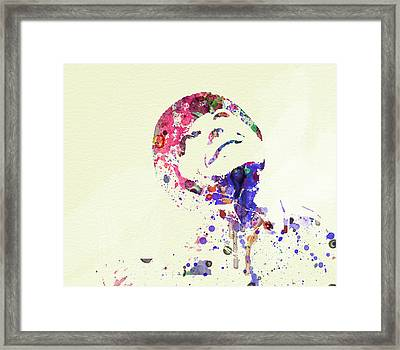 Jack Nicholson Framed Print by Naxart Studio