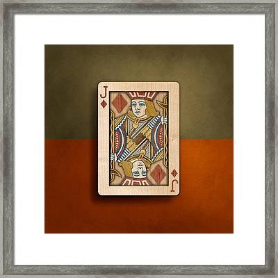 Jack Of Diamonds In Wood Framed Print by YoPedro