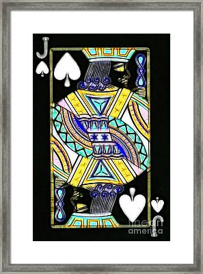 Jack Of Spades - V2 Framed Print by Wingsdomain Art and Photography