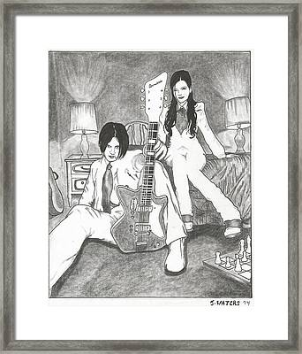 Jack White And Megan Martha White Framed Print by Jeremy Waters