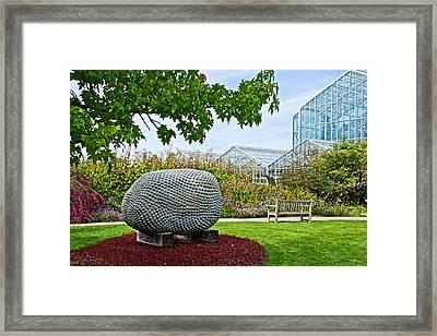Jackfruit Sculpture At Frederik Meijer Gardens And Sculpture Park In Grand Rapids-michigan  Framed Print by Ruth Hager