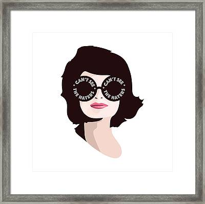 Jackie Can't See The Haters Framed Print by Lauren Amelia Hughes