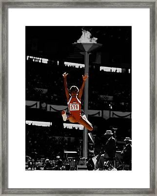 Jackie Joyner Kersee Framed Print by Brian Reaves