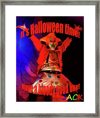 Jacks Halloween Card Framed Print by David Lee Thompson