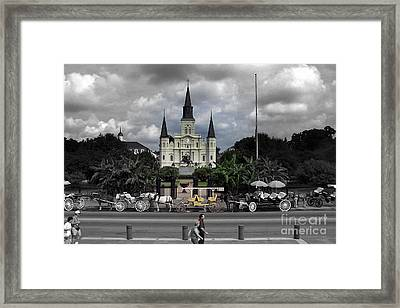 Jackson Square New Orleans Framed Print by Don Columbus