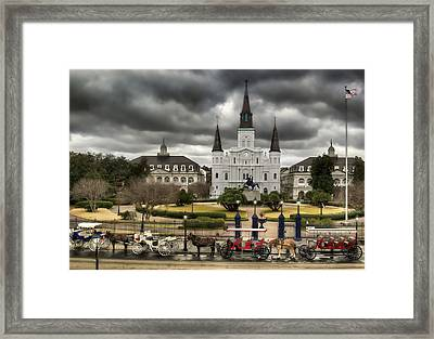 Jackson Square New Orleans Framed Print by Don Lovett