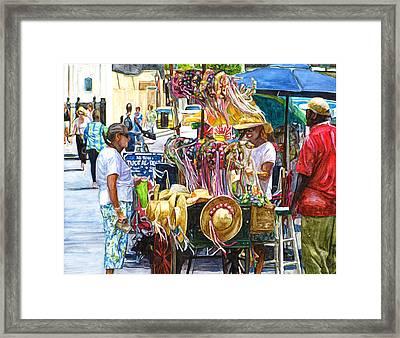 Jackson Square Vendor Framed Print by John Boles