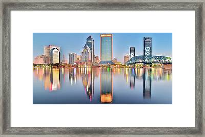 Jacksonville Reflecting Framed Print by Frozen in Time Fine Art Photography