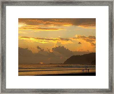 Jaco Sunset Framed Print by Daniel  Taylor