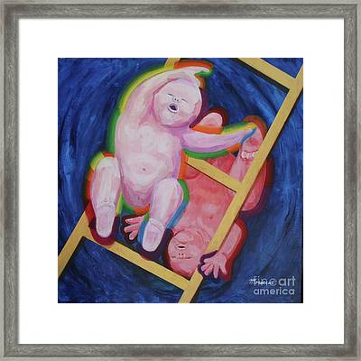 Jacob And Essau-yin Yang Framed Print by Mordecai Colodner