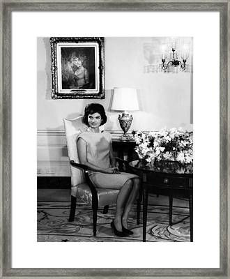 Jacqueline Kennedy, Circa. 1960s Framed Print by Everett
