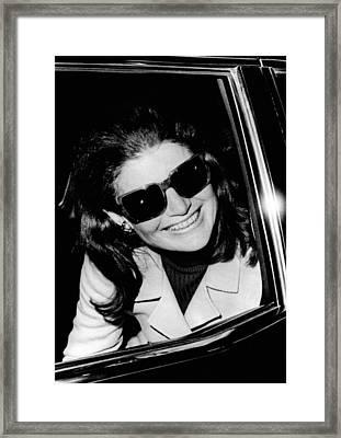 Jacqueline Kennedy Onassis Smiles Framed Print by Everett