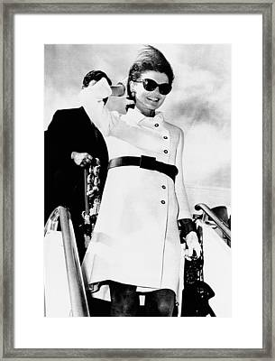 Jacqueline Kennedy, Wearing A White Framed Print by Everett