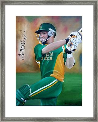 Jacques Kallis Framed Print by Johan BEUKES