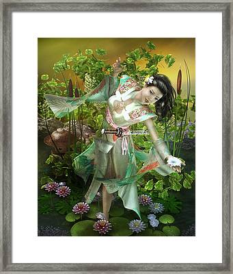 Jade Framed Print by Mary Hood