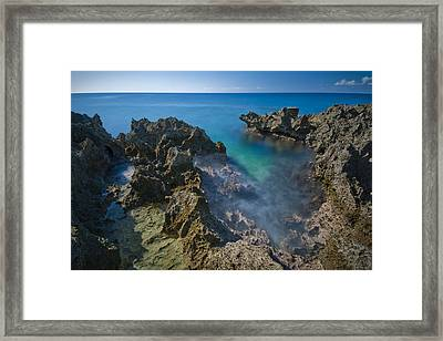 Jagged Framed Print by Ryan Heffron